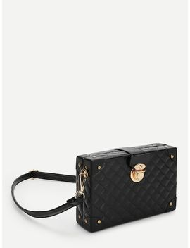 Push Lock Quilted Design Crossbody Bag by Sheinside