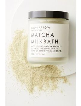 Fig + Yarrow Matcha Milk Bath Jar by Fig + Yarrow