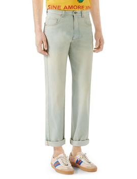 Bleach Washed Jeans by Gucci