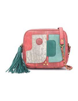 Tasseled Paneled Karung And Leather Shoulder Bag by JÉrÔme Dreyfuss