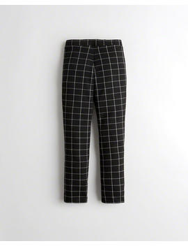 Double Knit Crop Slim Pants by Hollister