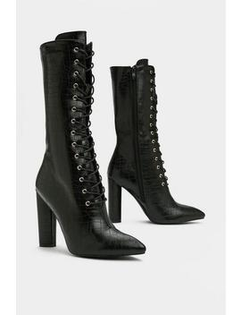 On The Upside Croc Boot by Nasty Gal