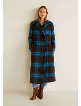 """<Font Style=""""Vertical Align: Inherit;""""><Font Style=""""Vertical Align: Inherit;"""">Checkered Wool Coat</Font></Font> by Mango"""