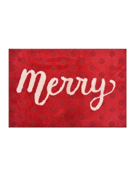 St. Nicholas Square® Supersoft Merry Holiday Rug   24'' X 36'' by St. Nicholas Square