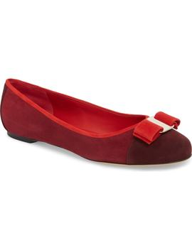 Varina Colorblocked Bow Flat by Salvatore Ferragamo