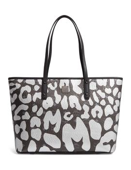 Anya Leopard Print Coated Canvas Tote by Mcm