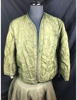 Us Military M65 Field Jacket Coat Liner M 65 Quilted Od Green Medium Used W Bttn by Ebay Seller