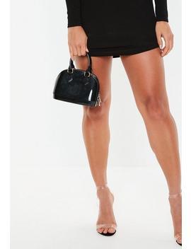Black Micro Mini Patent Handbag by Missguided