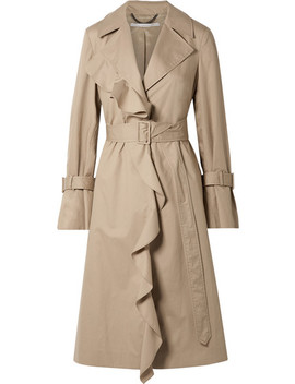 Ruffled Cotton Twill Trench Coat by Stella Mc Cartney