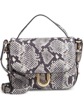 Harper Snake Embossed Leather Crossbody Bag by J.Crew