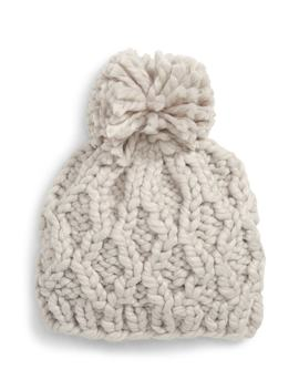 Chunky Cable Knit Beanie by Sole Society