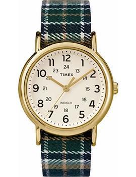 Timex Tw2 P89500 Unisex Indiglo Weekender Slip Thu Plaid Fabric Strap Watch by Timex