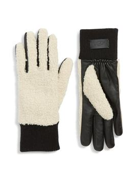 Ugg® Faux Shearling Touchscreen Compatible Gloves by Ugg® Collection