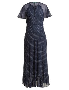 Polka Dot Print Crepe Dress by Alexachung