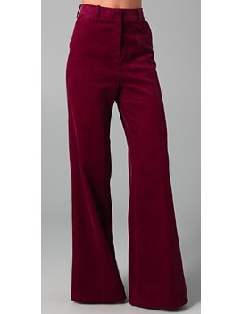 High Waisted Corduroy Pants by By Malene Birger