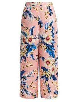 Floral Print Wide Leg Trousers by Diane Von Furstenberg
