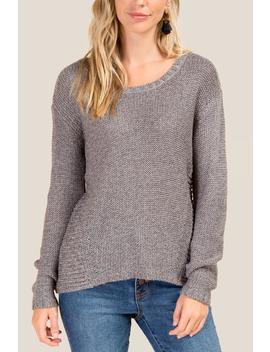 Nichole Hi Low Hem Sweater by Francesca's