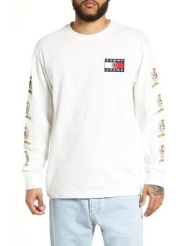 Crest Logo Long Sleeve T Shirt by Tommy Jeans