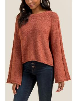Tawny Bell Sleeve Sweater by Francesca's