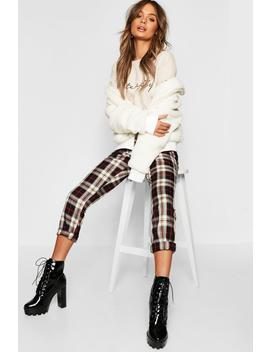 Tartan Tapered Trouser by Boohoo