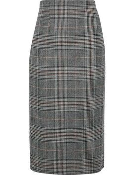 Steele Prince Of Wales Checked Wool Blend Skirt by Iris & Ink