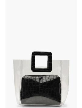 Croc Insert And Handle Clear Daybag by Boohoo