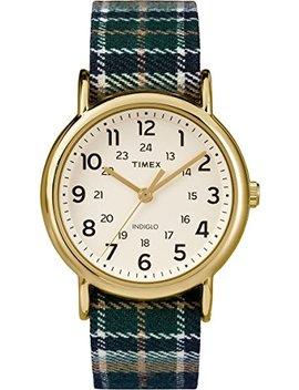 Timex Unisex Tw2 P89500 Weekender Analog Display Quartz Blue Watch by Timex