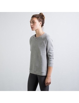 Everlane Raglan Boyfriend Sweatshirt Heather Gray by Everlane