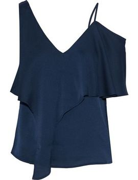 Melody Cold Shoulder Draped Crepe De Chine Top by Iris & Ink