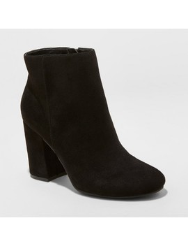 Women's Belinda Microsuede Heeled Bootie   A New Day™ by A New Day