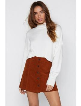 Button On Down Corduroy Skirt by Nasty Gal