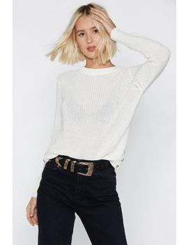Raise Me Up Ribbed Sweater by Nasty Gal