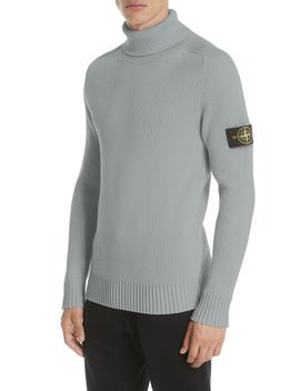 Ribbed Wool Turtleneck Sweater by Stone Island