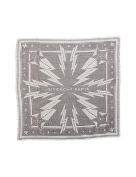 Iconic Flash Jacquard Silk & Wool Shawl by Givenchy