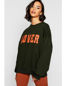 Lover Applique Slogan Sweat by Boohoo