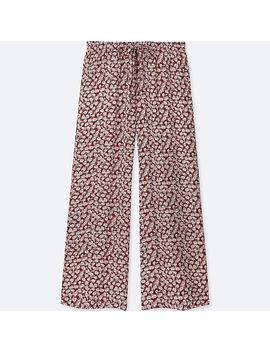 Women Drape Wide Pants (Floral) by Uniqlo
