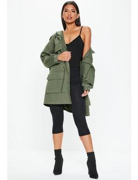 Tall Khaki Oversized Utility Jacket by Missguided