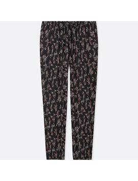 Women Drape Jogger Pants (Floral) by Uniqlo