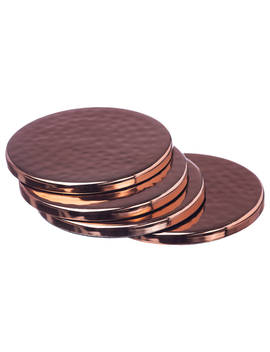 Just Slate Copper Coasters, Set Of 4 by Just Slate