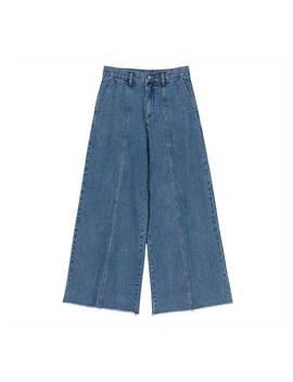 Racae High Waist Wide Leg Denim Jeans by Jessica Buurman