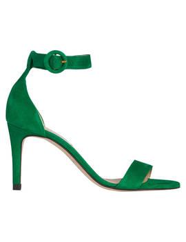 L.K.Bennett Dora Stiletto Sandals, Green Suede by L.K.Bennett
