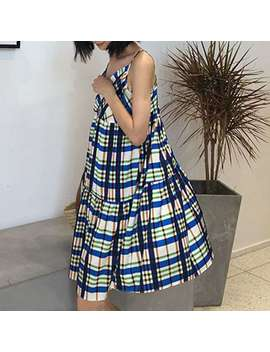 Krisa Checkered Plaid Mini Cami Dress by Jessica Buurman