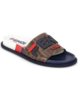 X Fila Mania Logo Pool Slide by Fendi