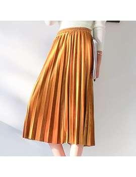 Alish Pleated Midi Skirt by Jessica Buurman