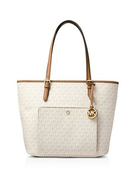 Jet Set Large Snap Pocket Tote by Michael Michael Kors