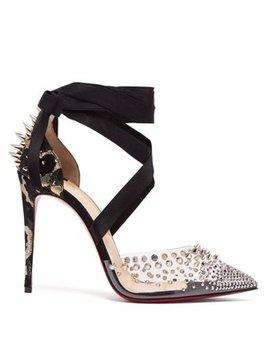Mechante Reine 100 Stud Embellished Stiletto Pumps by Christian Louboutin