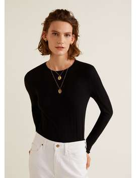 """<Font Style=""""Vertical Align: Inherit;""""><Font Style=""""Vertical Align: Inherit;"""">Fine Knitted Sweater</Font></Font> by Mango"""