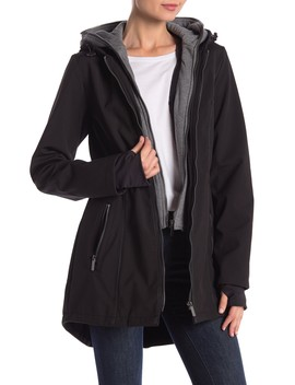 Dickey Layered Coat W/ Hoodie by French Connection