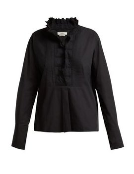 Mora Embroidered Cotton Shirt by Isabel Marant Étoile
