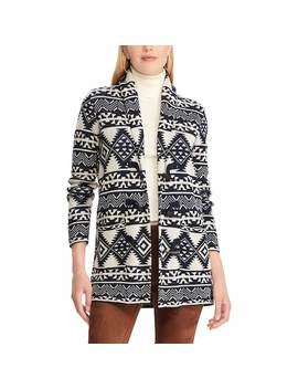 Women's Chaps Southwestern Print Toggle Sweater Jacket by Kohl's